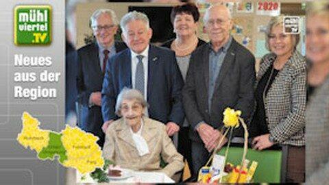 OÖSB LO LH a.D. Dr. Josef Pühringer gratulierte Margareta Schartmüller zum 100. Geburtstag