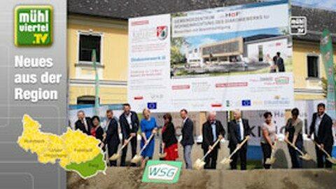 """Spatenstich für neues Gemeindezentrum """"…im Hof"""" in Katsdorf"""