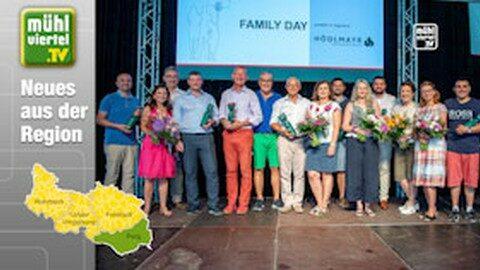 Hödlmayr feiert mit der ganzen Firmenfamilie