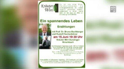 Ankündigung Professor Buchberger beim Kräuterwirt Dunzinger