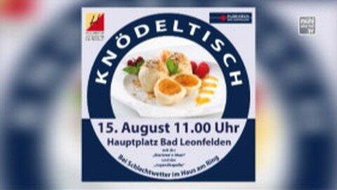 Ankündigung Knödeltisch in Bad Leonfelden