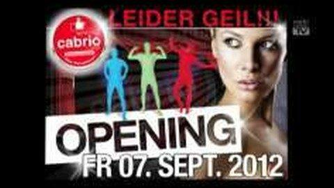 Saison-Opening im Partyhaus Cabrio am 7.09.2012