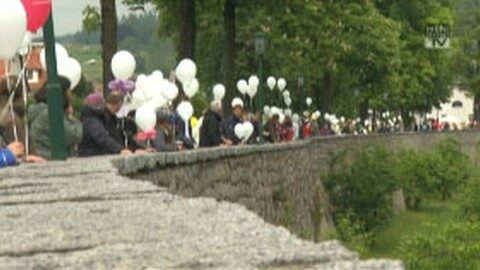 Menschenkette in Freistadt