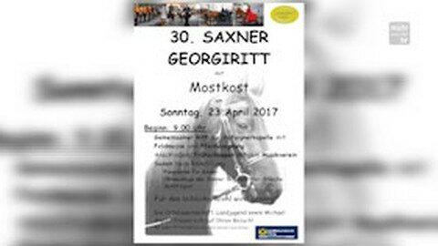 Ankündigung: Georgiritt in Saxen