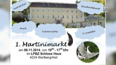 Ankündigung Martini-Markt Schloss Haus