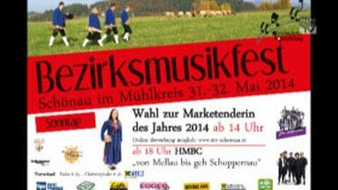 Ankündigung Bezirksmusikfest Schönau 2014