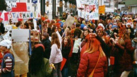 Ankündigung großer Faschingsumzug der Schulen in Freistadt