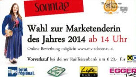 Ankündigung Wahl zur Miss Marketenderin 2014 in Schönau