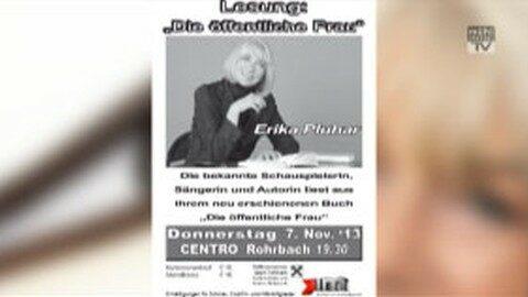 Ankündigung Erika Pluhar am 7. Nov. in Rohrbach