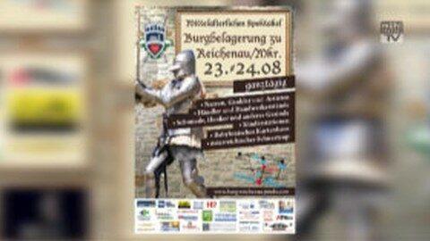 Ankündigung Ritterfest auf der Burg Reichenau