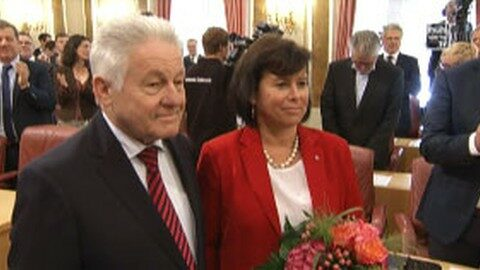 Angelobung von SPÖ-Landesrätin Birgit Gerstorfer