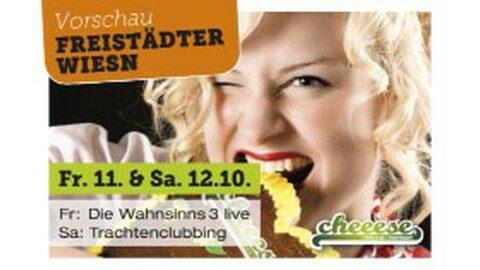 Ankündigung Oktoberfest im Cheeese Hirschbach