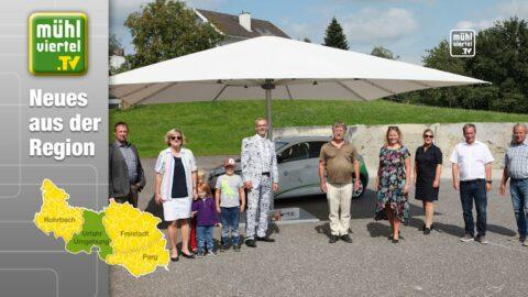 Allzweck-Schirme zur Belebung der Ortszentren –  Initiative der LEADER-Region Sterngartl Gusental