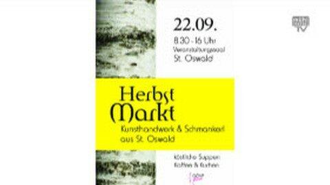 Ankündigung St. Oswalder Herbstmarkt