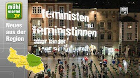 Provokante Lichtshow in Freistadt