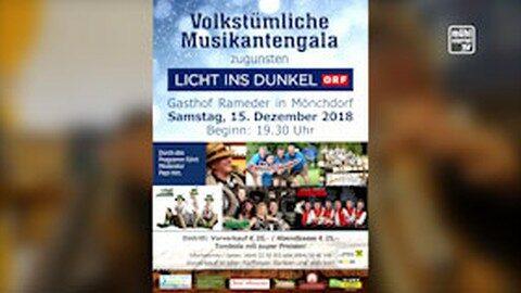 Ankündigung Volkstümliche Musikantengala in Mönchdorf