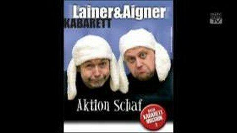 """Ankündigung Kabarett """"Aktion Schaf"""" mit Günther Lainer und Ernst Aigner"""