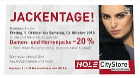 HOLE-Jackenaktion