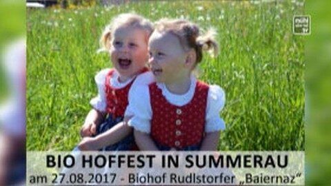 Ankündigung Hoffest beim Baiernaz in Summerau am 27.8.2017