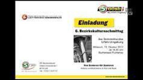 Ankündigung Bezirkskulturnachmittag in Puchenau