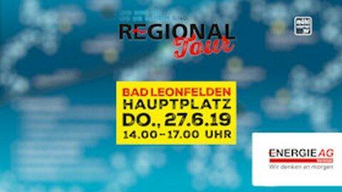 Ankündigung Energie AG Regionaltour in Bad Leonfelden