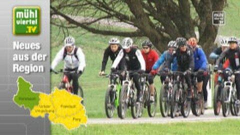 Radler und Radlerinnen werden frühlingsfit