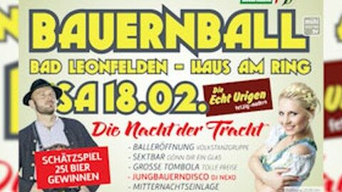 Ankündigung: Bauernball in Bad Leonfelden 2017