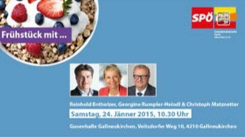 Ankündigung SPÖ Frühstück am 24.01. in Gallneukirchen