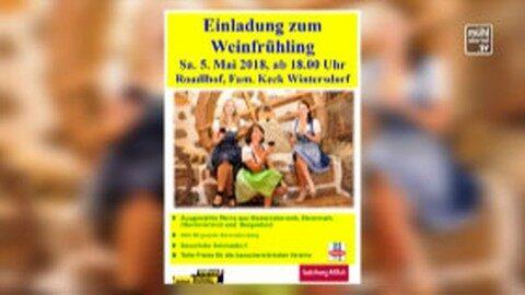 Ankündigung Weinfrühling in Ottenschlag
