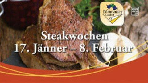 Ankündigung Steakwochen im Gasthaus Blumauer in Rainbach