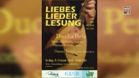 Ankündigung LiebesLiederLesung in Luftenberg
