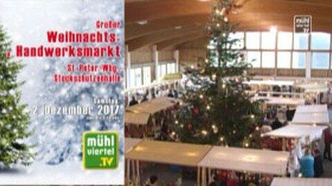 Ankündigung Weihnachts- und Handwerksmarkt in St. Peter am Wimberg