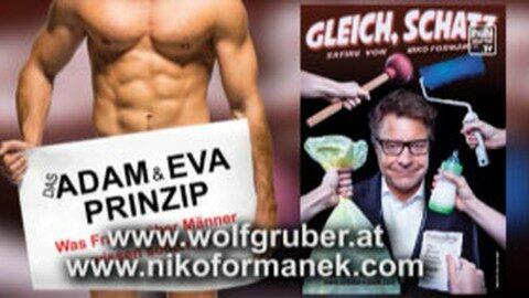 Ankündigung Kabarett Wolf Gruber u. Niko Formanek im Mühlviertel