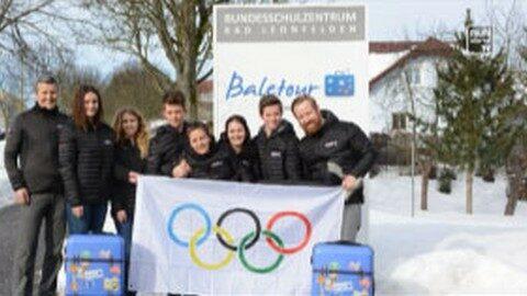 Schüler der Tourismusschule Bad Leonfelden bei Olympia