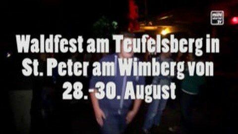 Ankündigung Waldfest in St. Peter
